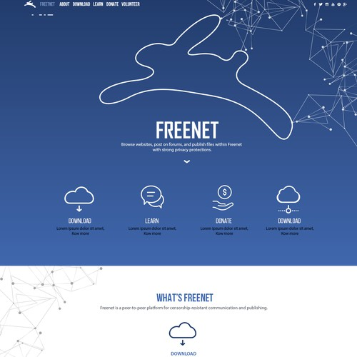 Reimagine Freenet's website and branding Design by joanasm