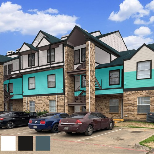 New color scheme for apartment exterior rehab other - Apartment exterior color schemes ...