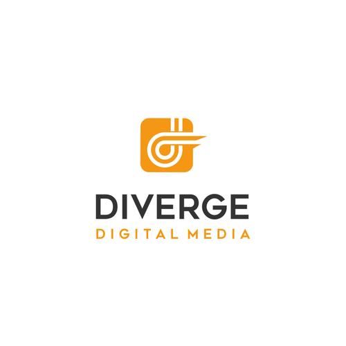 diverge digital media logo design contest