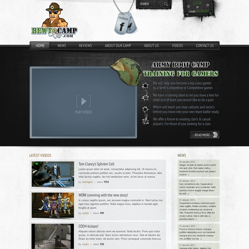 Runner-up design by Web Craftsman