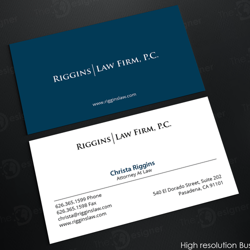 Business card and letterhead for employee rights law firm business runner up design by an designer colourmoves