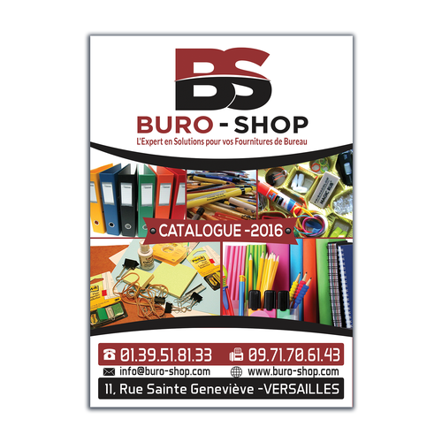 cr er la page de garde du catalogue buro shop 2016