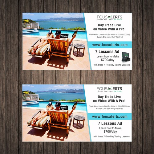 Facebook Ads for Day Trading/Lifestyle Company! | Banner ad