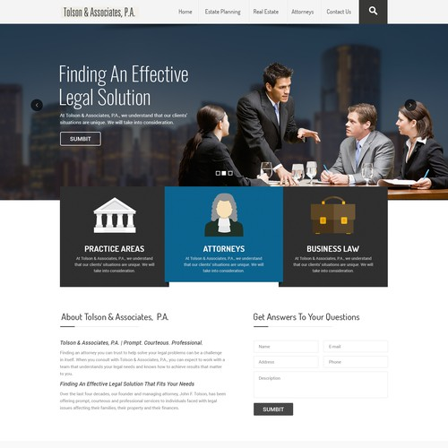 Makeover For An Elder Law And Estate Planning Law Firm Web Page Design Contest