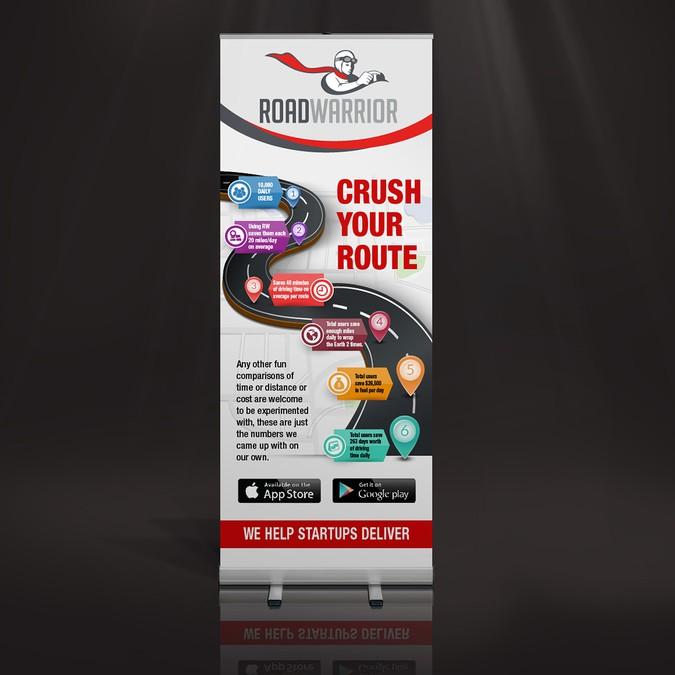 Design Tradeshow Popup Banner for transportation startup