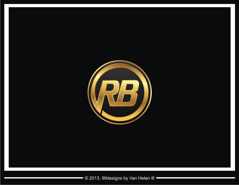 text logo for rb rich body just the initials logo design contest. Black Bedroom Furniture Sets. Home Design Ideas