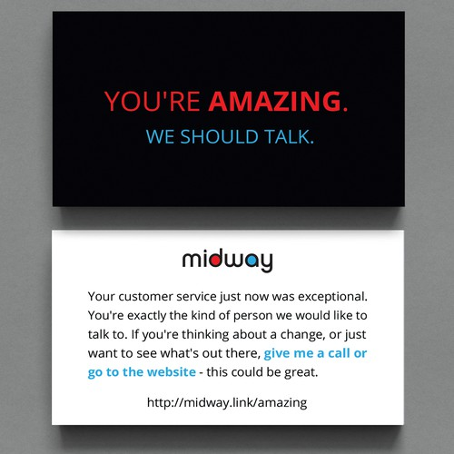 design a recruiting card to attract retail employees