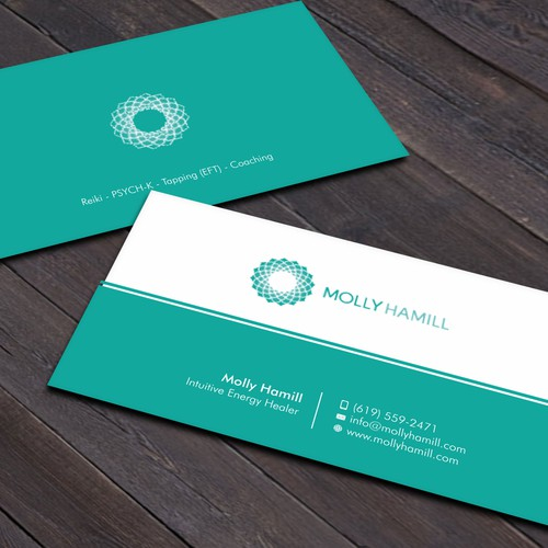 Business cards for intuitive energy healer business card contest runner up design by xclusive16 reheart Image collections