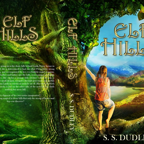 Book cover for children's fantasy novel based in the CA countryside Design by Ddialethe