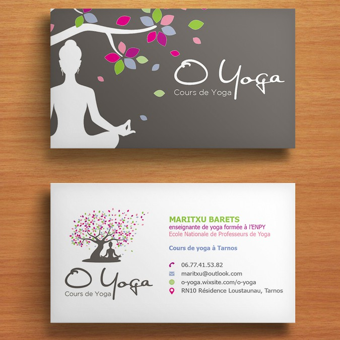 Carte De Visite O Yoga Business Card Contest