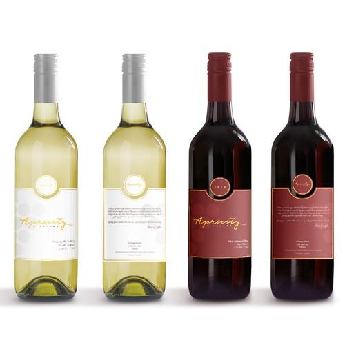 Apricity Vineyard 2016 White Blend Wine Label Design by giovannigiga