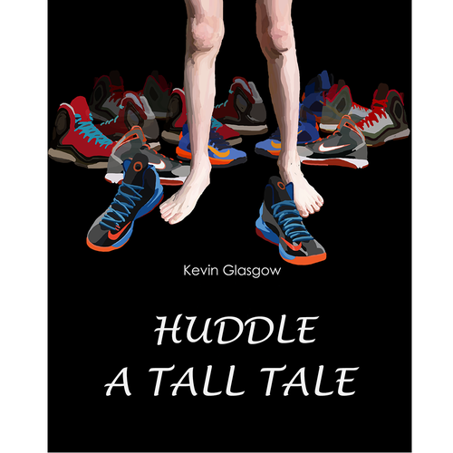 Create a cool kid book cover for a shoe and height obsessed sixth grade character Diseño de Ziede_Mato