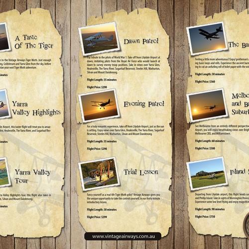 vintage airways needs a new brochure design brochure contest