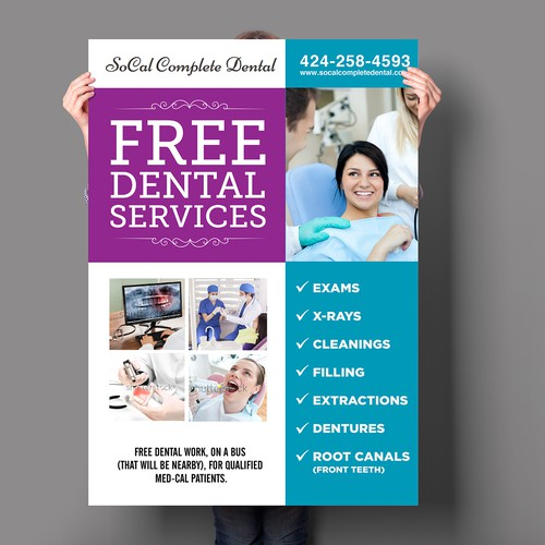 Create an eye-catching poster to attract patients for free