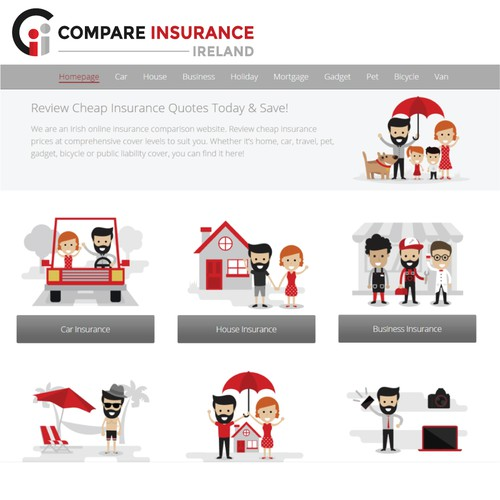 Creative Corporate Logo For Compare Insurance Ireland Website