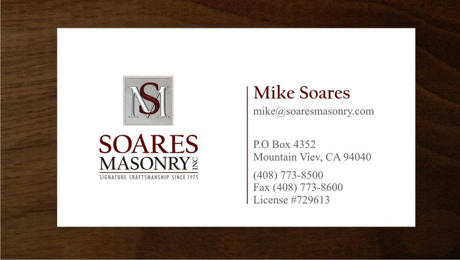 Create a winning logo for a signature masonry company logo winning design by andrid colourmoves