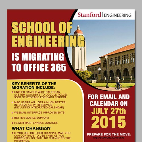 Office 365 migration awareness poster - Stanford University