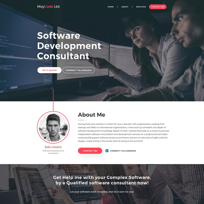 Software Contractor Ltd Company Website | Web page design