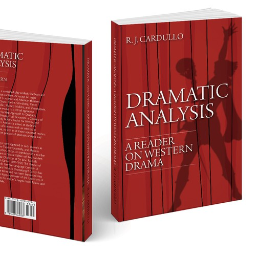 Book Cover Design Analysis : College textbook cover titled dramatic analysis a reader