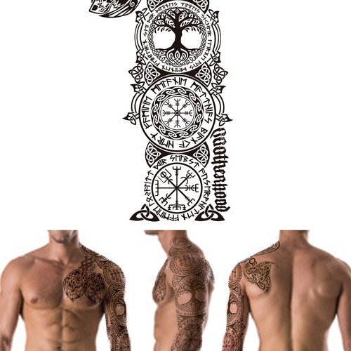 Tattoo nordische mythologie Wikinger Tattoo