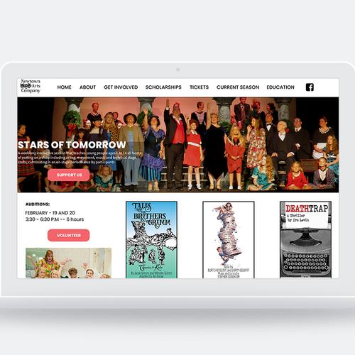 Theatre Arts Company Looking For Fresh Contempory Web Template Wordpress Theme Design Contest 99designs