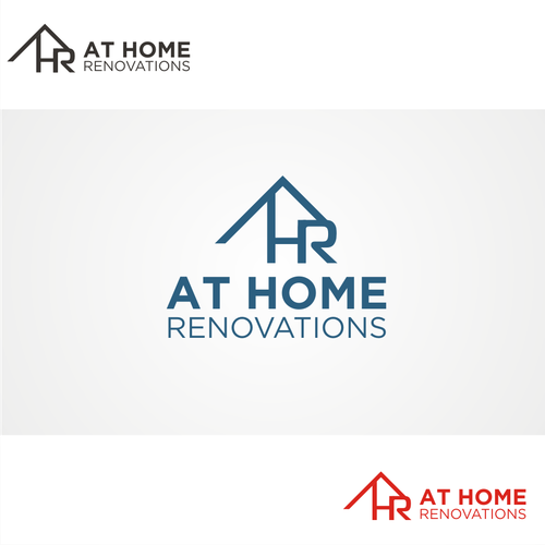 Create a logo for At Home Renovations, a kitchen and bath ...
