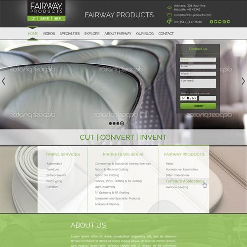 Diseño finalista de Olga Web Designer