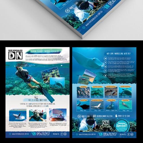 Design an eye catching flyer for snorkel tours on the Ningaloo Reef! Ontwerp door BrandMeHigh