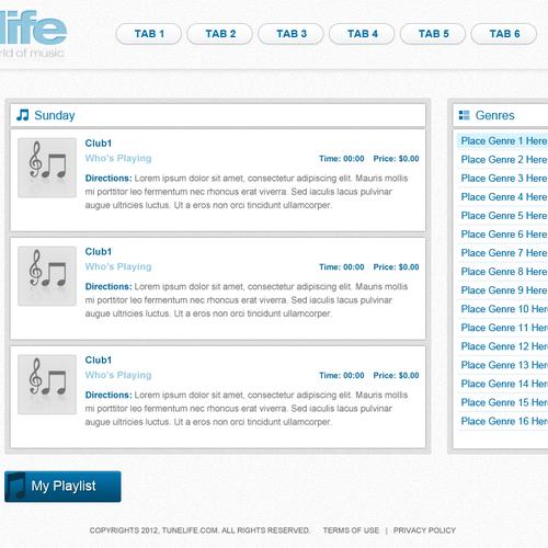 Diseño finalista de webline