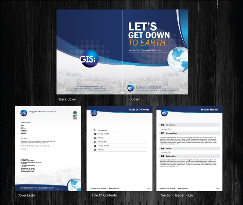 Proposal Template Design for IT/GIS Consulting Firm | Print ...