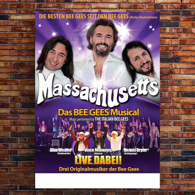 New layout for MASSACHUSETTS - BEE GEES Musical | Poster contest