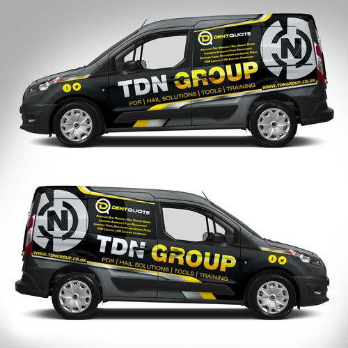 52 Ford Transit Connect 1 8td Swb: Vehicle Graphics For Ford Transit Connect