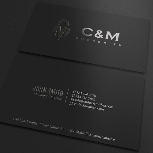 Security company business card business card contest runner up design by an designer colourmoves