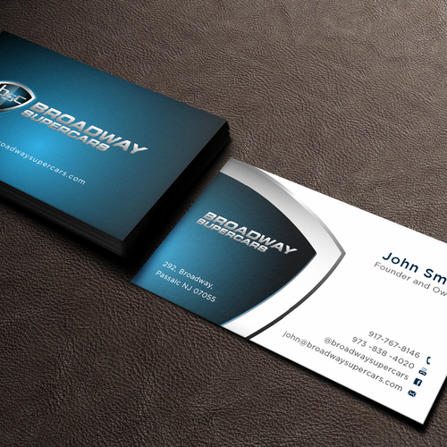 Business Card Exotic Car Rental