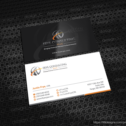 Create a sophisticated modern business card for an accounting firm runner up design by designc reheart Images