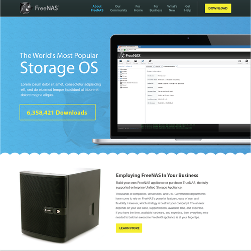 FreeNAS org Redesign - Wanted: a responsive multi-page