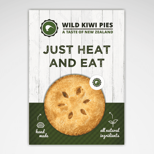 Create a mind blowing advertising pack for new meat pie company Design by BrooklynDesign™