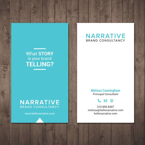 What story is your brand telling biz card design for la for Brand consultant