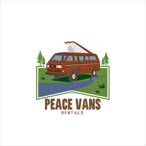 Create a new logo for our very cool camper van rental