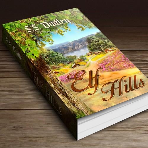 Book cover for children's fantasy novel based in the CA countryside Design by ALZtudio