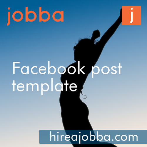 facebook photo contest rules template - create a facebook post template for jobba flash banner