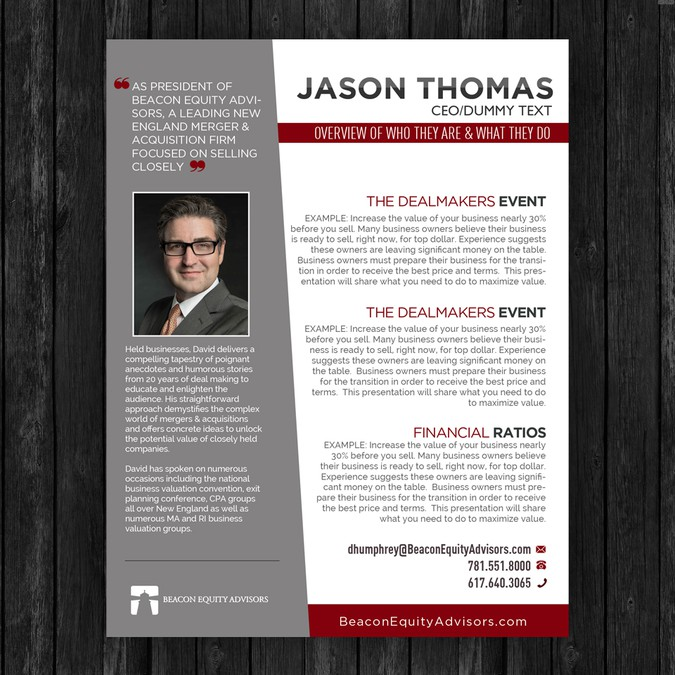 Create A Professional Biography Template For Speaker Group