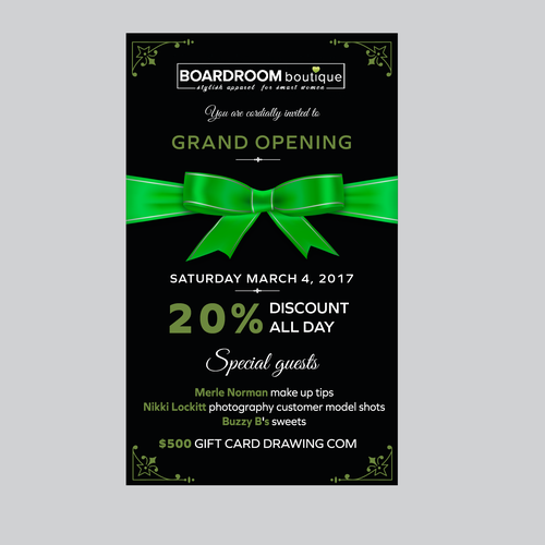 Boutique Grand Opening Invitation Card Or Invitation Contest