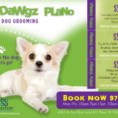 Create an ad for Dirty Dawgz Design by Lulu's Imagination
