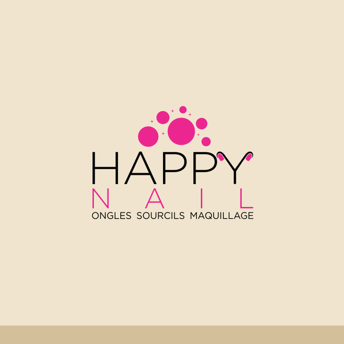 cr u00e9er un logo moderne pour happy nail
