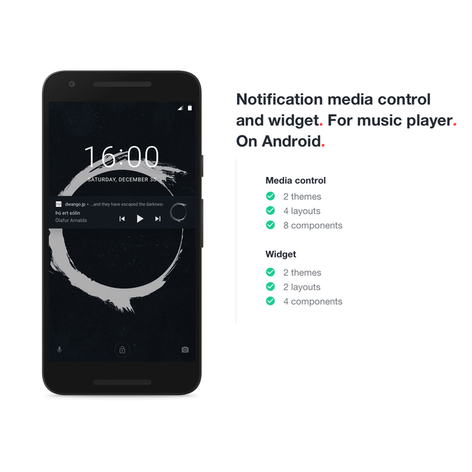 Design simple & clean Android Music Controller for
