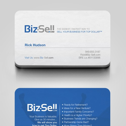 Biz sell business card concours carte de visite meilleur design de blue colourmoves