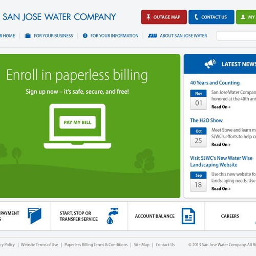 New Website Design Wanted For San Jose Water Company Web Page Design Contest 99designs