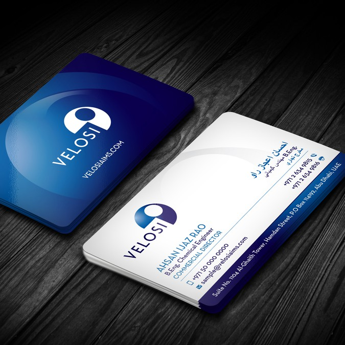Design a business card for a leading engineering consulting
