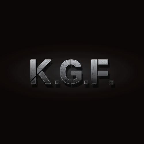 "Need a logo for crime drama based movie title ""k.g.f"" 